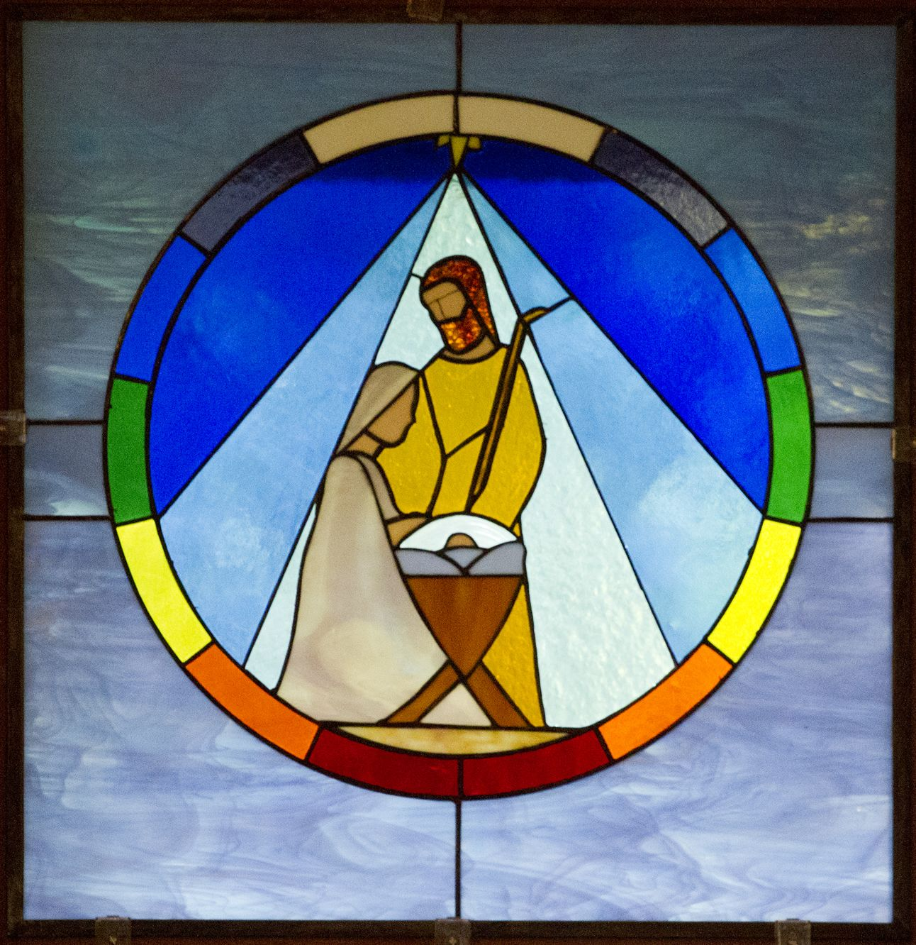 Nativity in stained glass google search christmas