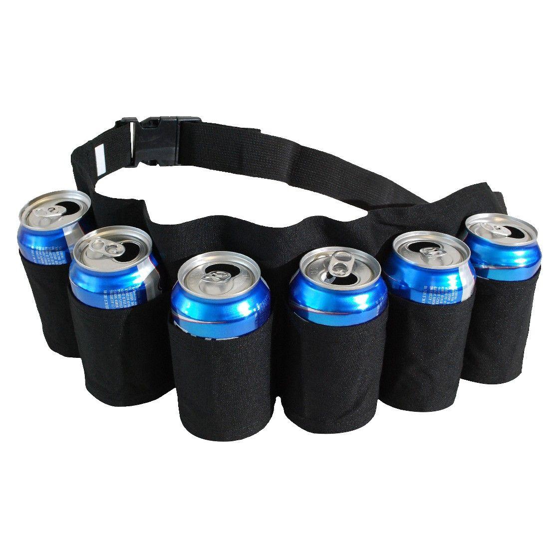 Redneck 6 Pack Beer and Soda Can Holster Belt - Black   menu ...