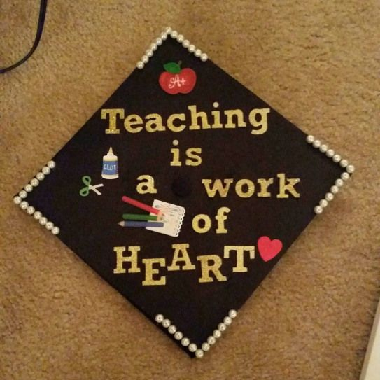 Education major graduation cap!       I made this in honor of my grandfather who loved this saying.
