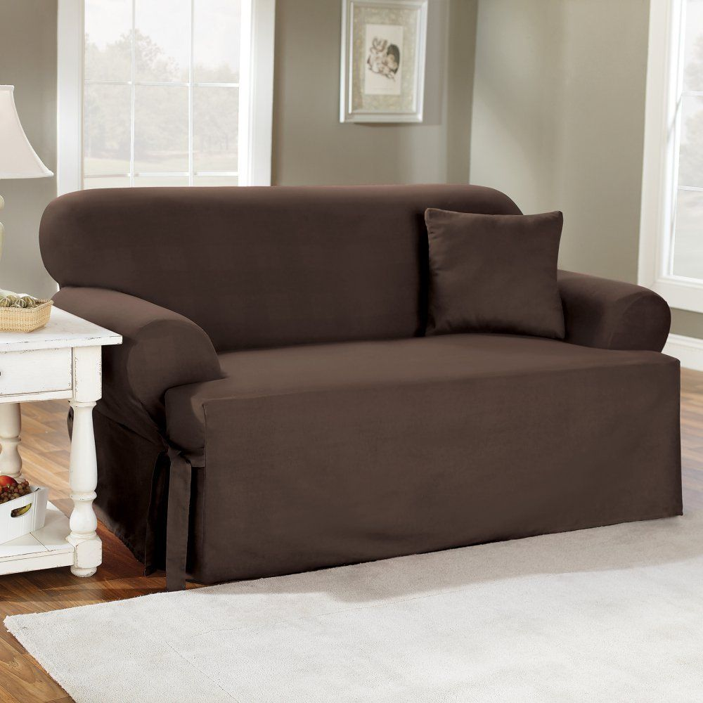 Bon Amazon.com   Sure Fit Cotton Duck T Cushion Sofa Slipcover  Natural    Surefit Slipcover T Cushion Sofa