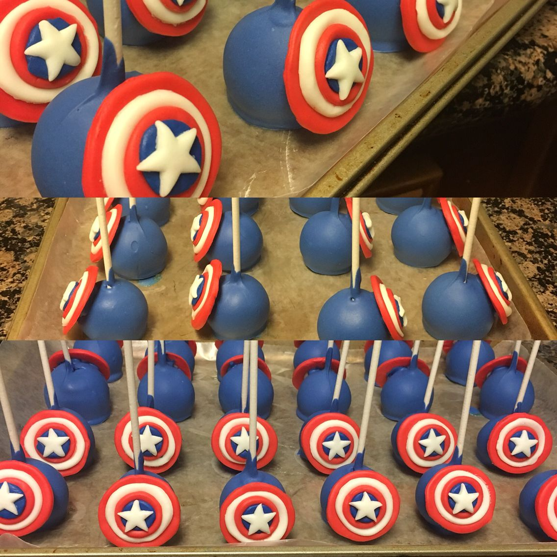 captain america cake pops cakes by me pinterest captain america cake capt america and. Black Bedroom Furniture Sets. Home Design Ideas