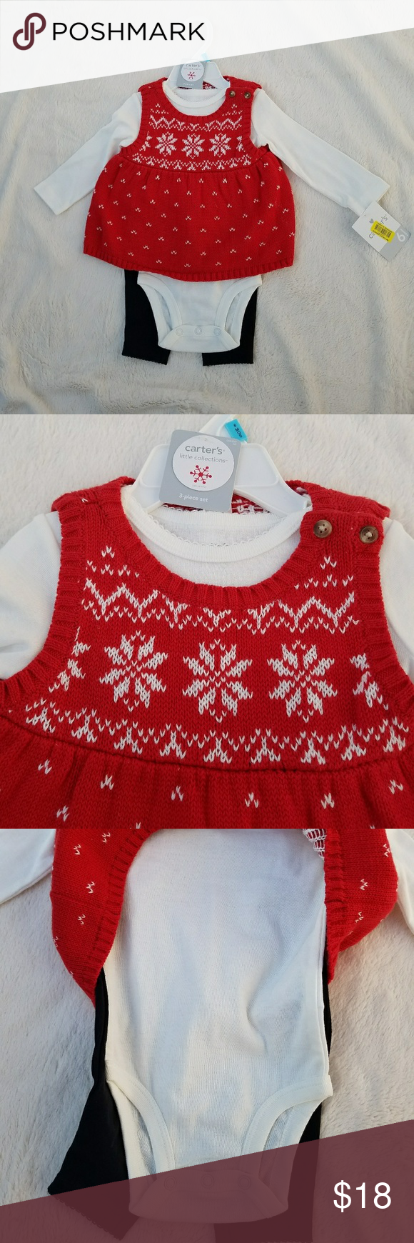 db0c50a43366 🎄SALE🎄NWT Baby Girls 3 Piece Holiday Sweater Set NWT