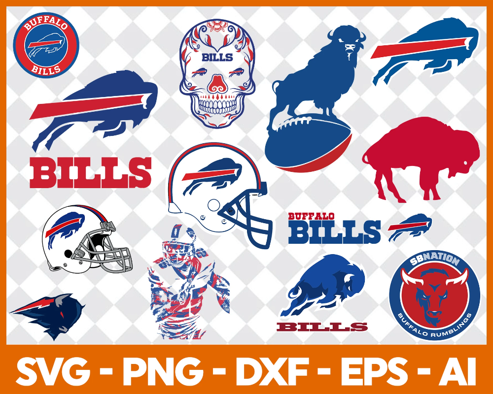 Buffalo Bills Svg Svg Files For Silhouette Files For Cricut Svg Dxf Eps Png Instant Download Buffalo Bills Buffalo Bills Football Bills Football