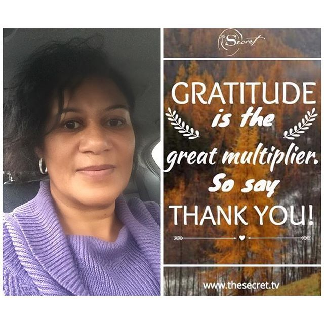 Gratitude is the great multiplier. So say thank you!  So grateful that I got out of the rain in time! It's pouring down outside!