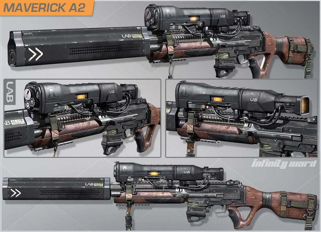 Call Of Duty Ghosts Infinity Ward Shares Onslaught Dlc Weapon Designs Mp1st Call Of Duty Ghosts Call Of Duty Guns