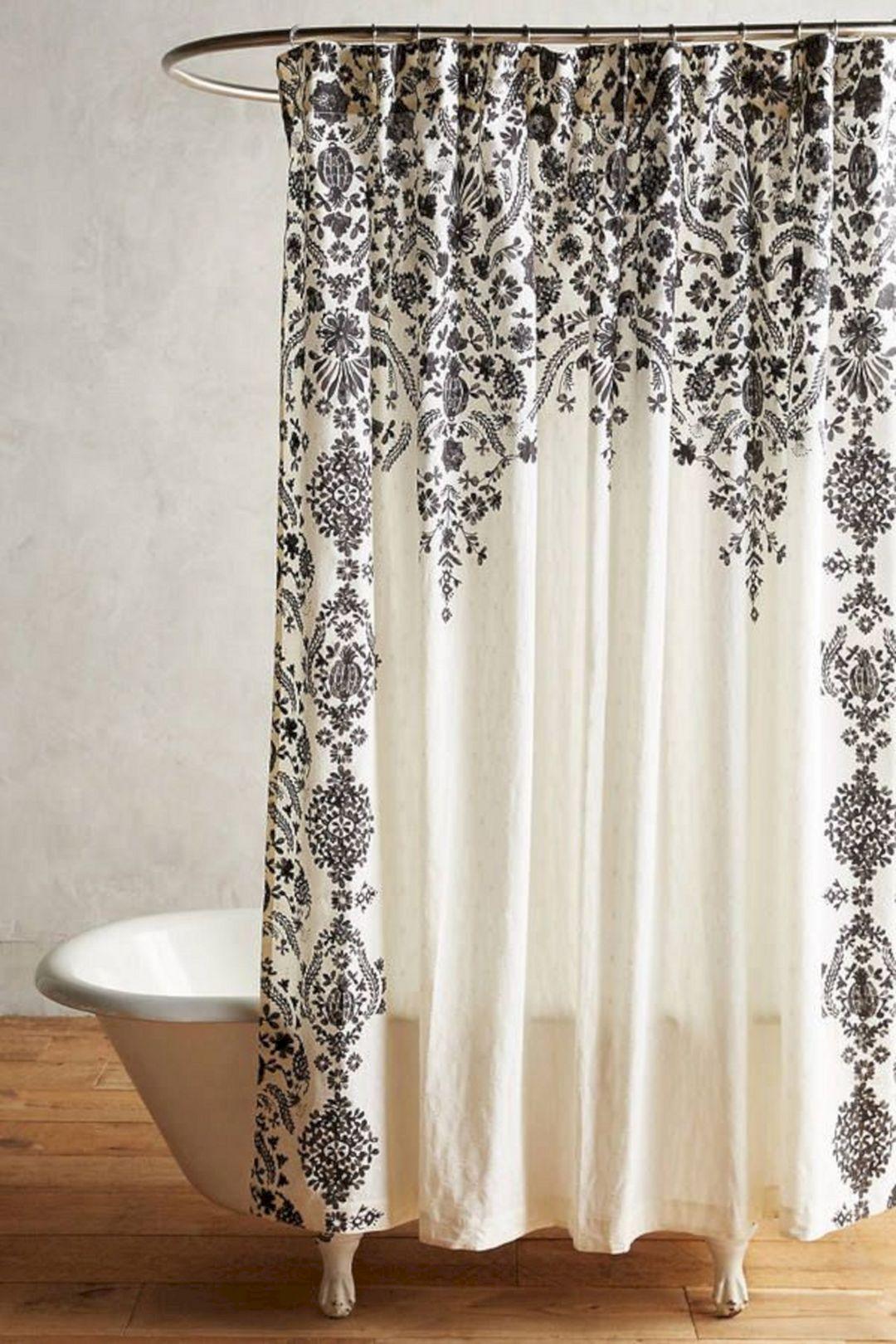 Marvelous 35 Gorgeous Bathroom Shower Curtain Ideas Https