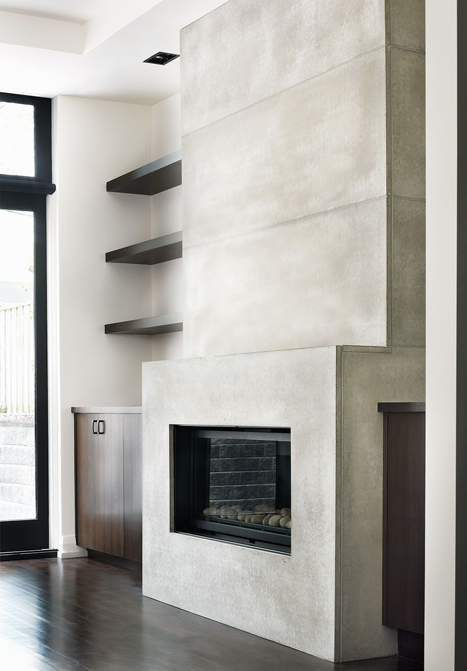 Anthony Concrete Modern Fireplace Mantles Modern Fireplace Fireplace Surrounds