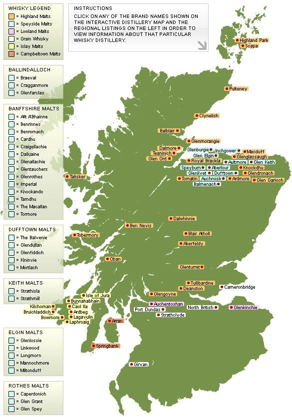 interactive whisky distillery map of scotland super important