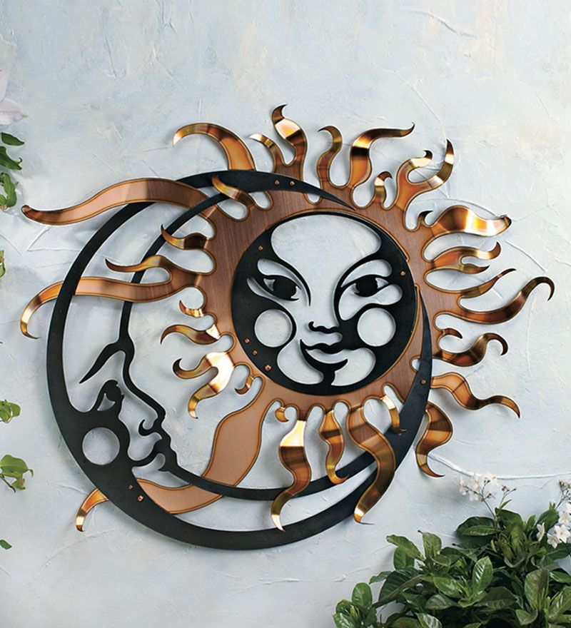 Cosmic Encounter A Blazing Sun Marries Serene Moon To Form Dynamic Sculpture Of Contrasts Both Faces Are Cut From 14 Gauge Steel And Coated With