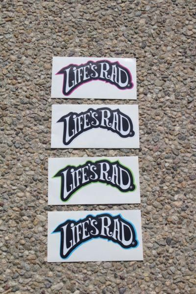 b0e80156c196f Life s Rad Logo With Flare Decal Sticker Whether you skate