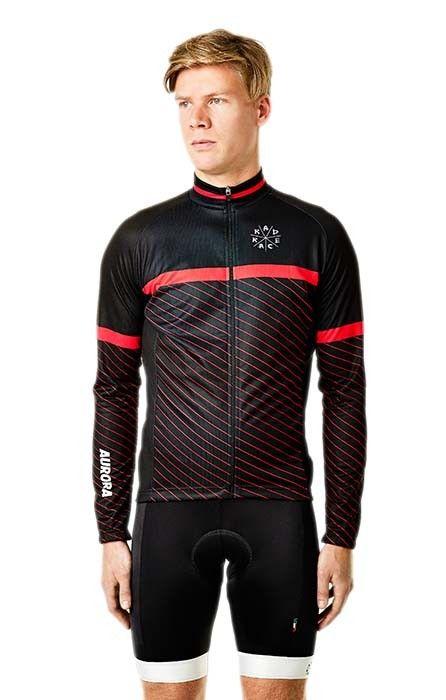 Boys Jersey Circle Red Langarm Schwarz Official Rad Race Shop Cycling Wear Cycling Fashion Bike Wear