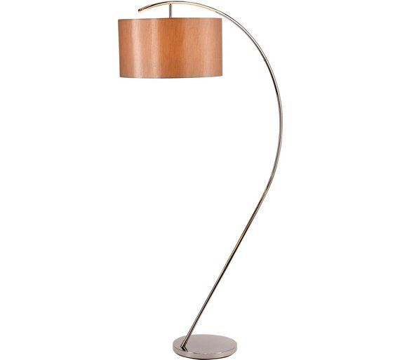 Buy heart of house bourne chrome floor lamp natural at argos co uk