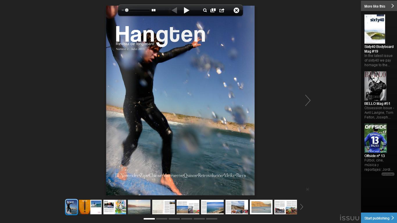 N 2 de la revista Hangten https://www.facebook.com/hangtenrevistalongboard