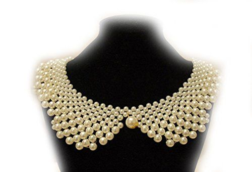 Superhai Handmade Custom Pearl Necklace False Collar Shirt Collar *** Check out this great product.