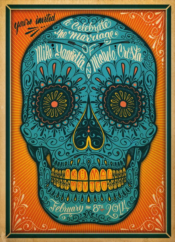 Mike & Michele's Wedding Invite by Travis W. Simon, via Behance