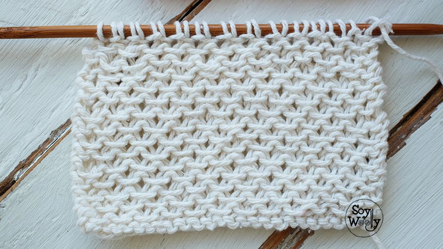 Punto fácil con textura para bufandas y cuellos dos agujas | Tejidos ...