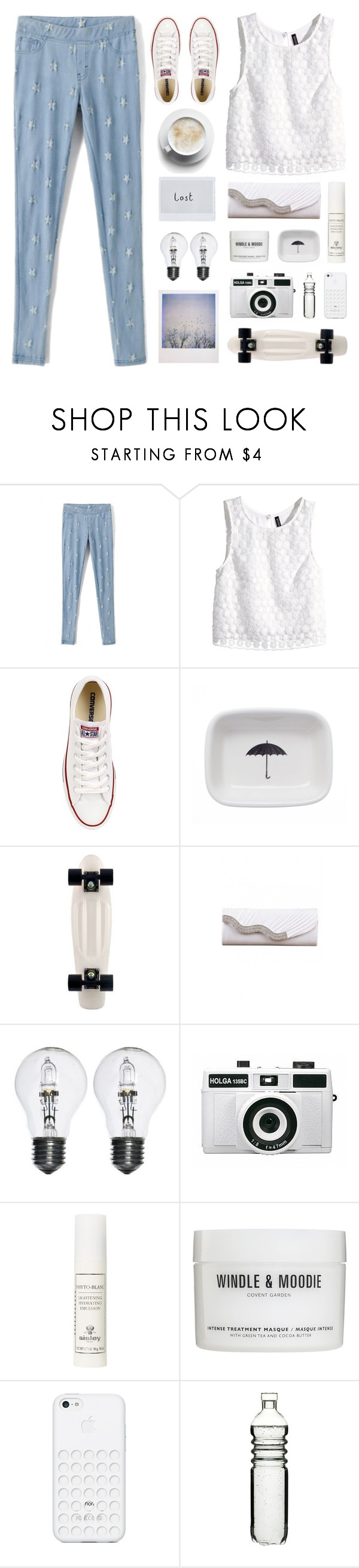 """""""Heaven waits for those who run -"""" by rockylune ❤ liked on Polyvore featuring H&M, Converse, Izola, Polaroid, Holga, Windle & Moodie, Black Apple, Sagaform and lucluc"""