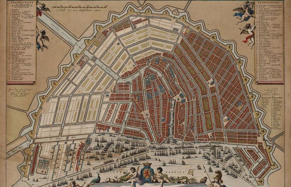 Kaart Van Amsterdam Door De Stadsarchitect Daniel Stalpaert Na