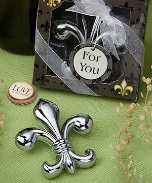 Parisian Fleur De Lis Bottle Opener Bridal Shower Wedding Favors