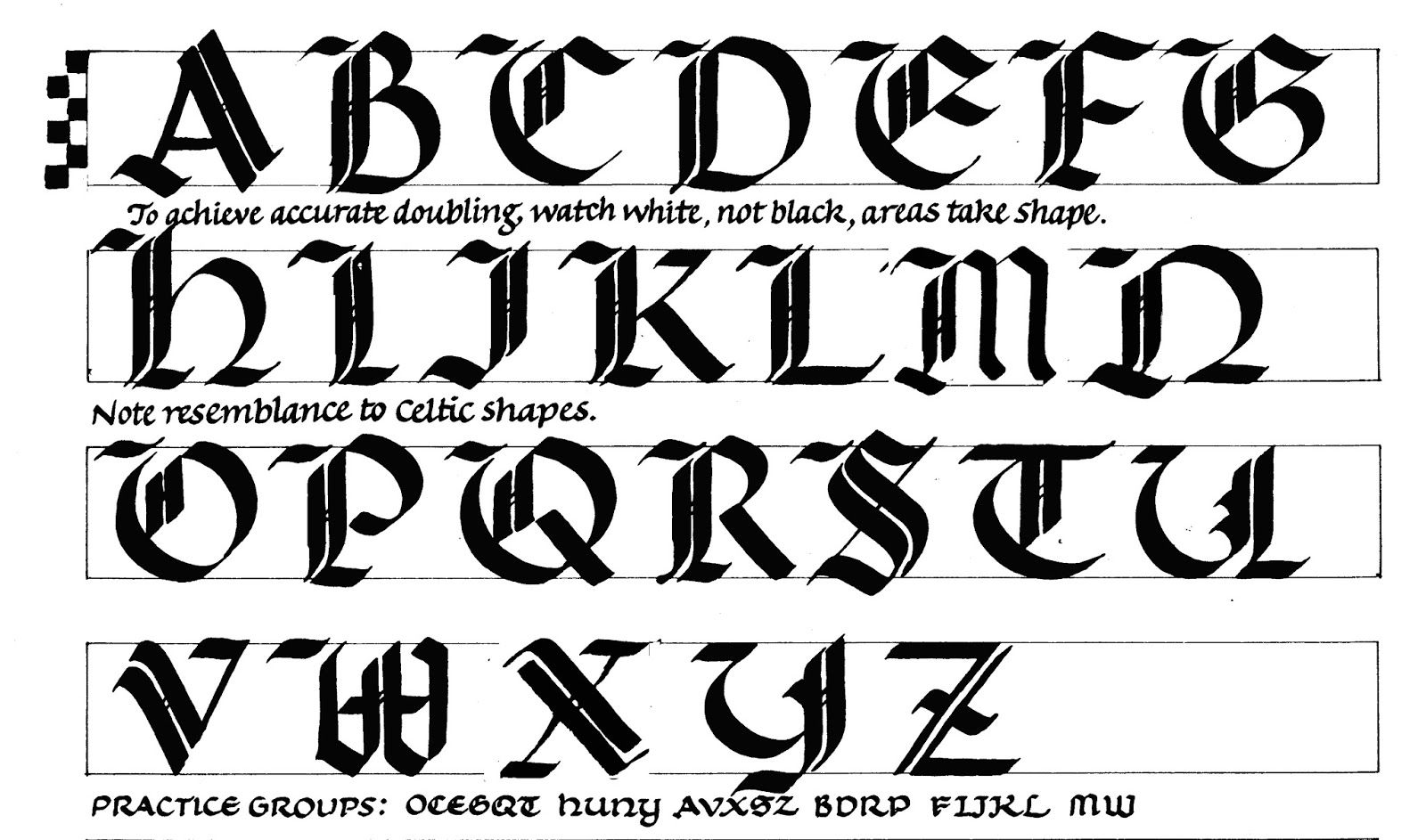 Gothic Caps Calligraphy Lessons Lettering Lettering Alphabet