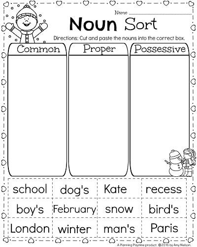 Proper Nouns Worksheet Kindergarten