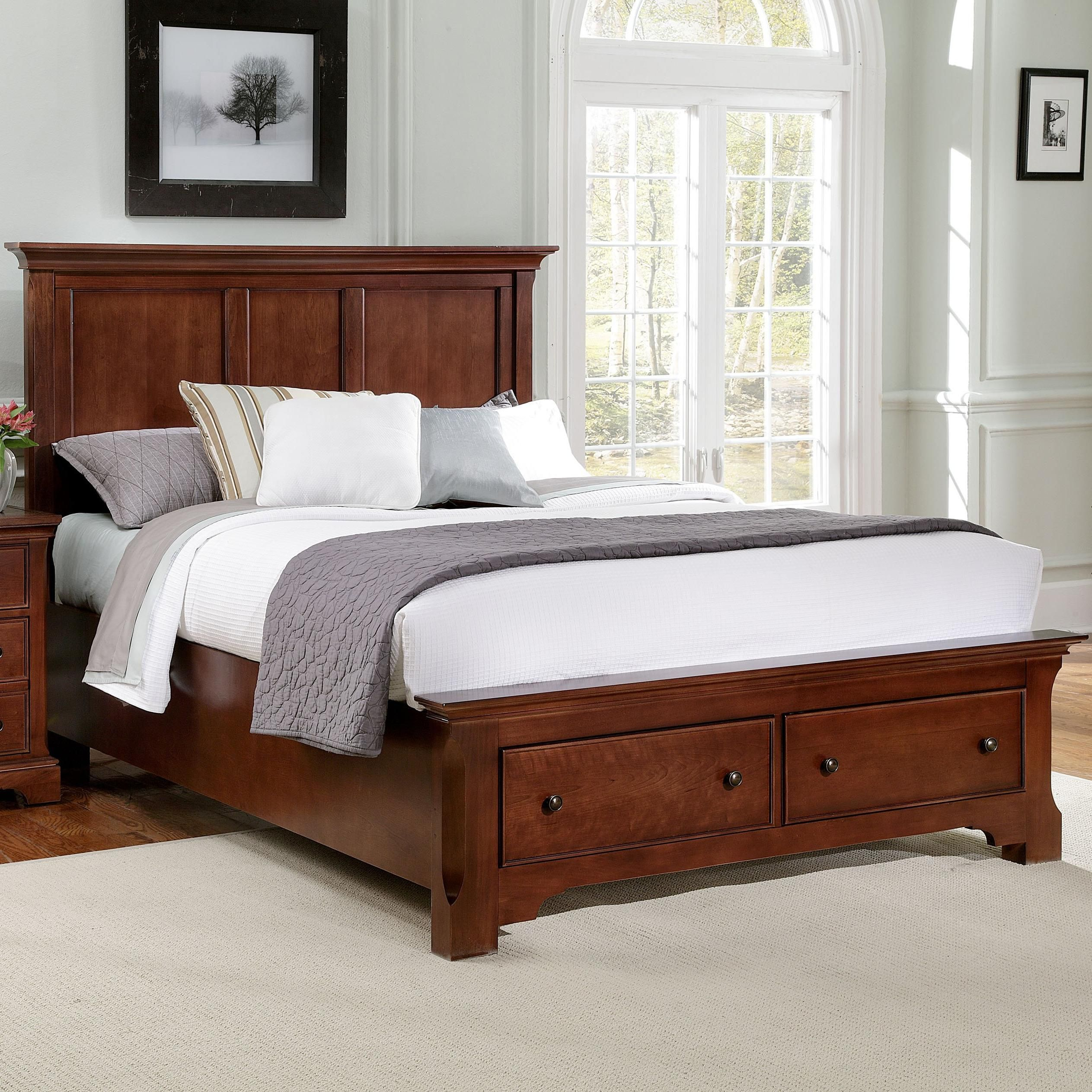 Forsyth full headboard and footboard storage bed by vaughan bassett