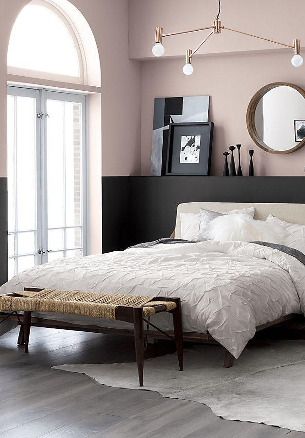 Blush Black Bedroom Schlafzimmer Design Wohnung Wohnen