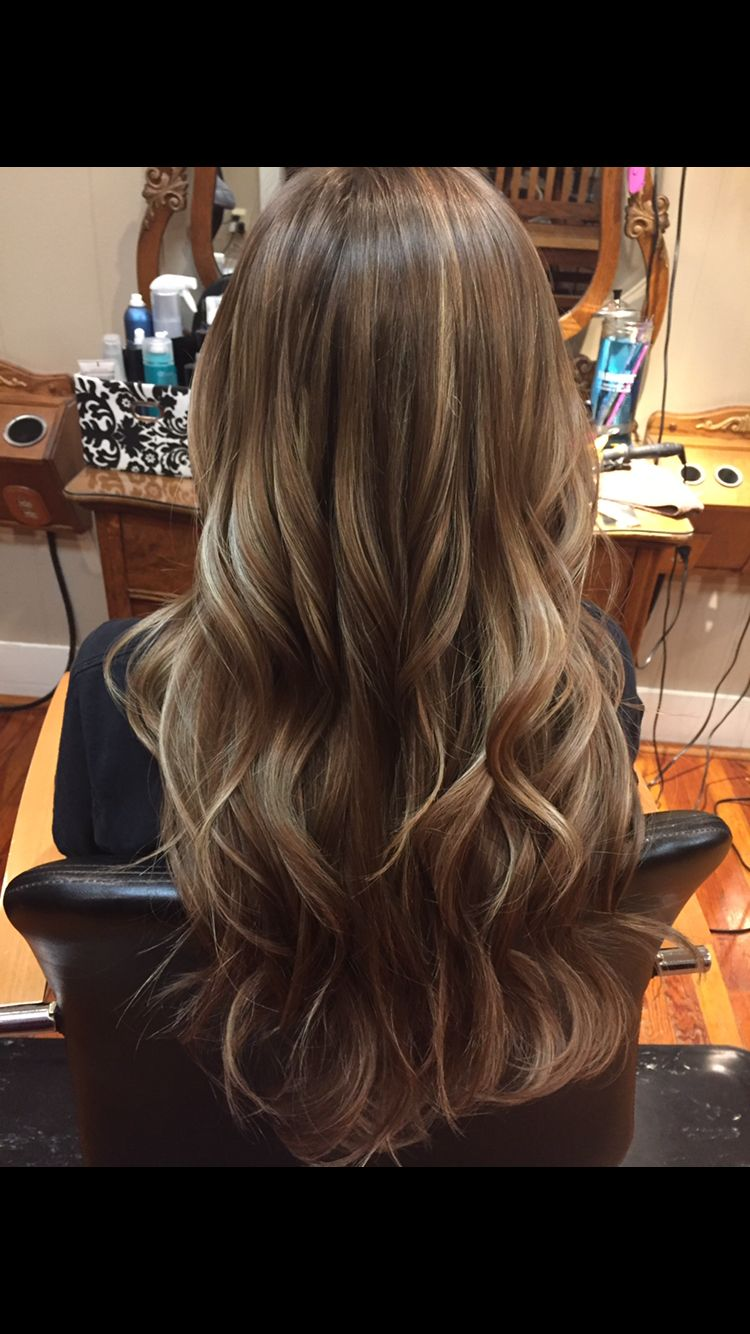 Brown Hair With Carmel Highlights Hairstyles In 2019
