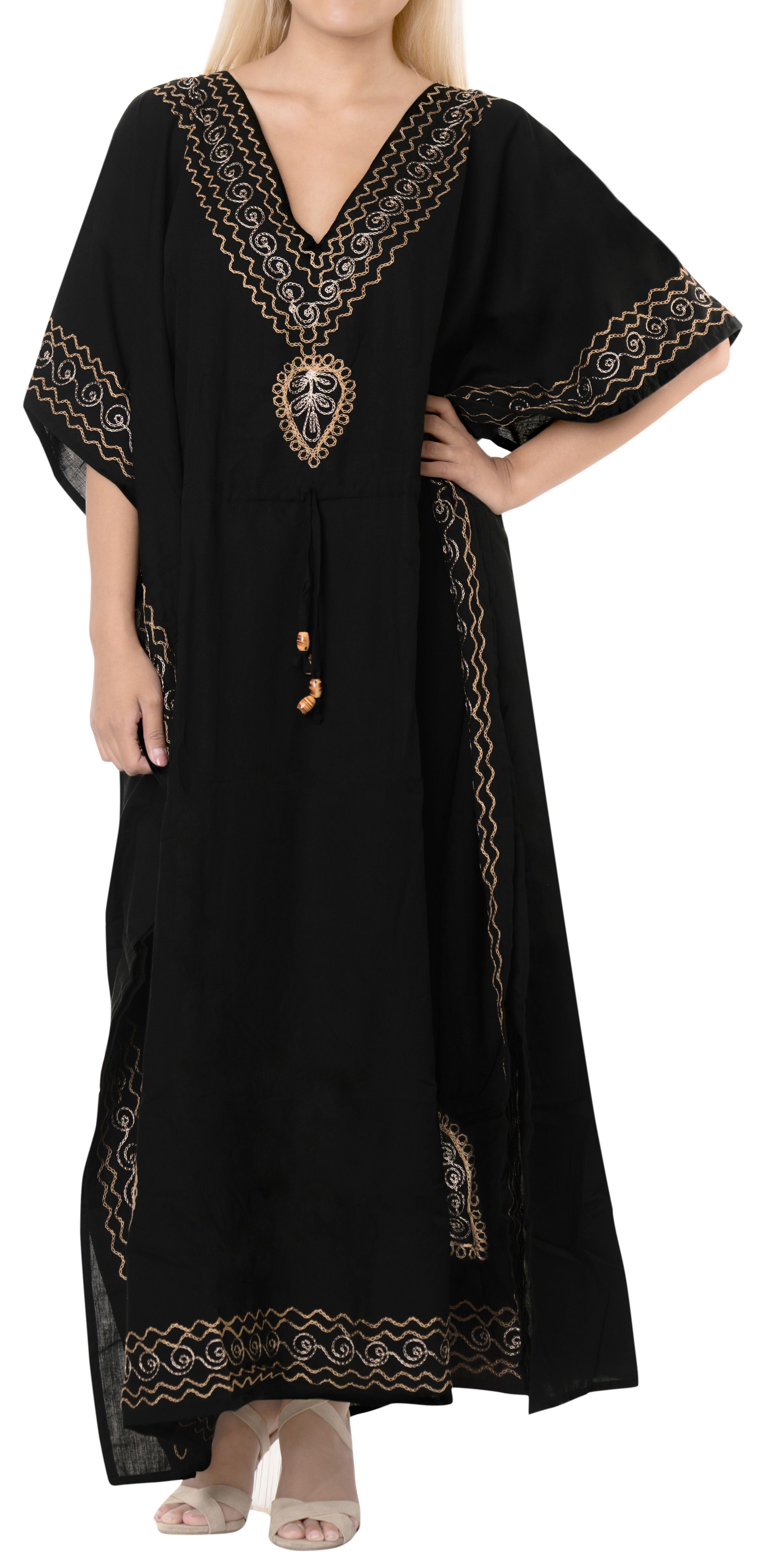 be3c80280c LA LEELA Women's Rayon plus Lounge Night Sleep Beach Caftan Long Dress  Black#Rayon, #Lounge, #Night