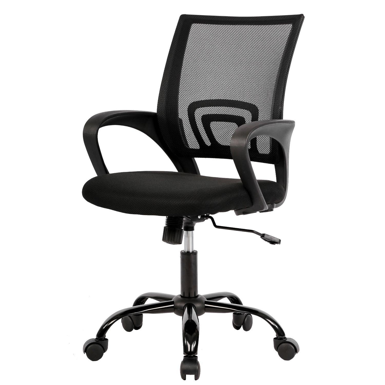 Mesh Office Chair Desk Chair Computer Chair Ergonomic Adjustable Stool Back Support Modern Executive Rolling Swivel Chair For Women Men Black Walmart Com In 2020 Desk Chair Mesh Office Chair
