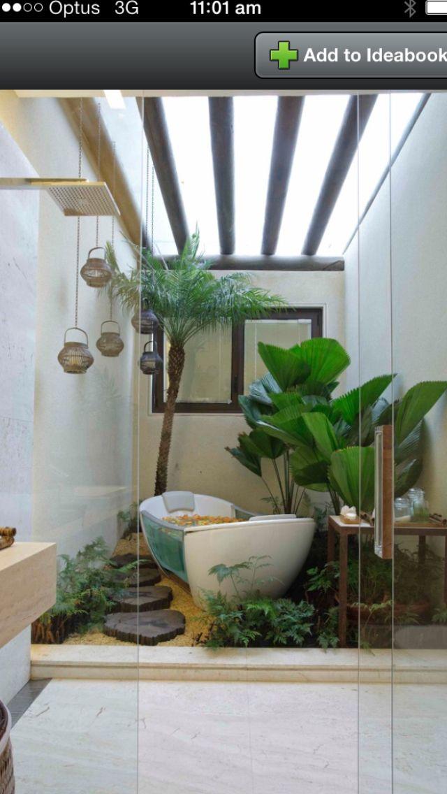 Inside Outside Bathroom Outside Bathrooms Jungle Bathroom