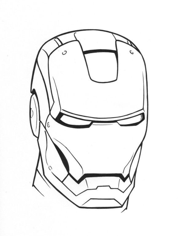 Easy Iron Man Coloring Pages Design