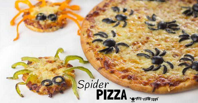 Halloween Spider Pizza Halloween foods, Halloween fun and Food ideas - cheap halloween food ideas