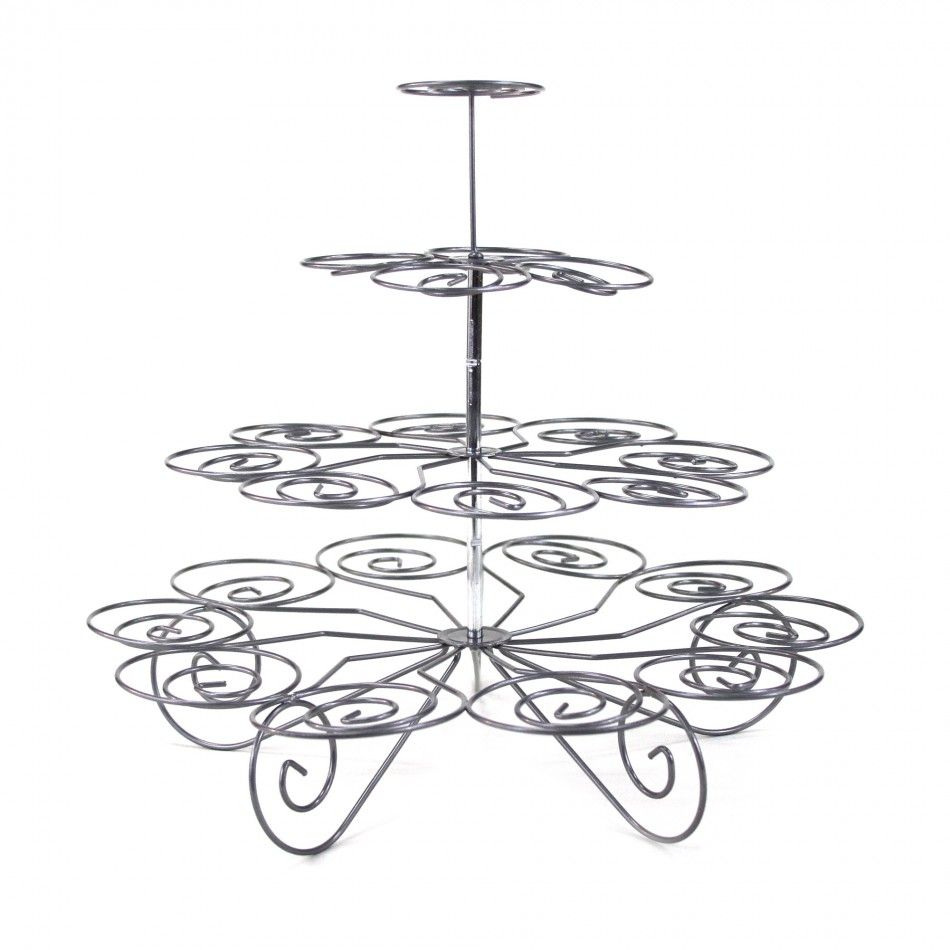 4-Tier Metal Wire Cupcake Stand - Large [CU23 Buy Cheap Cupcake ...