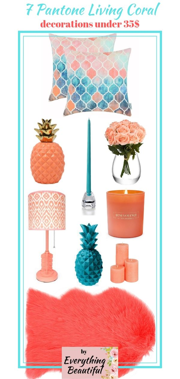 7 Pantone Living Color 2019 decorations under 35$