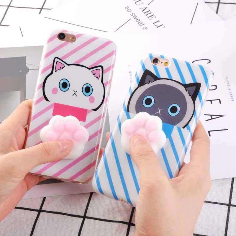 info for 360f8 c3aeb Squishy cat paw Phone Cases for iPhone 7 6 6S Plus Case 3D Cute (+ ...