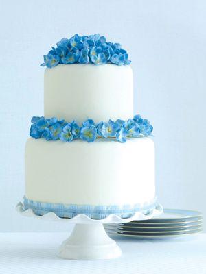 The 25 Prettiest Wedding Cakes Weve Ever Seen Hydrangea Cake - Small Blue Wedding Cakes
