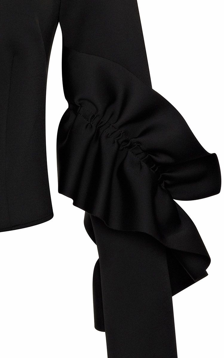 Ruffled Sleeve Stretch-Neoprene Top by Simone Rocha - Moda Operandi