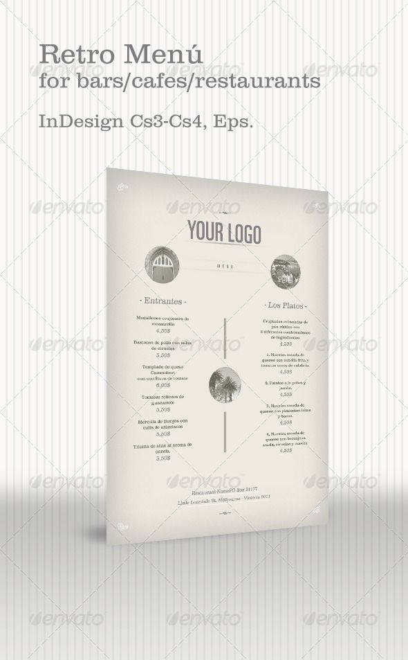 Retro Menu - Food Menus Print Templates Download here : http ...
