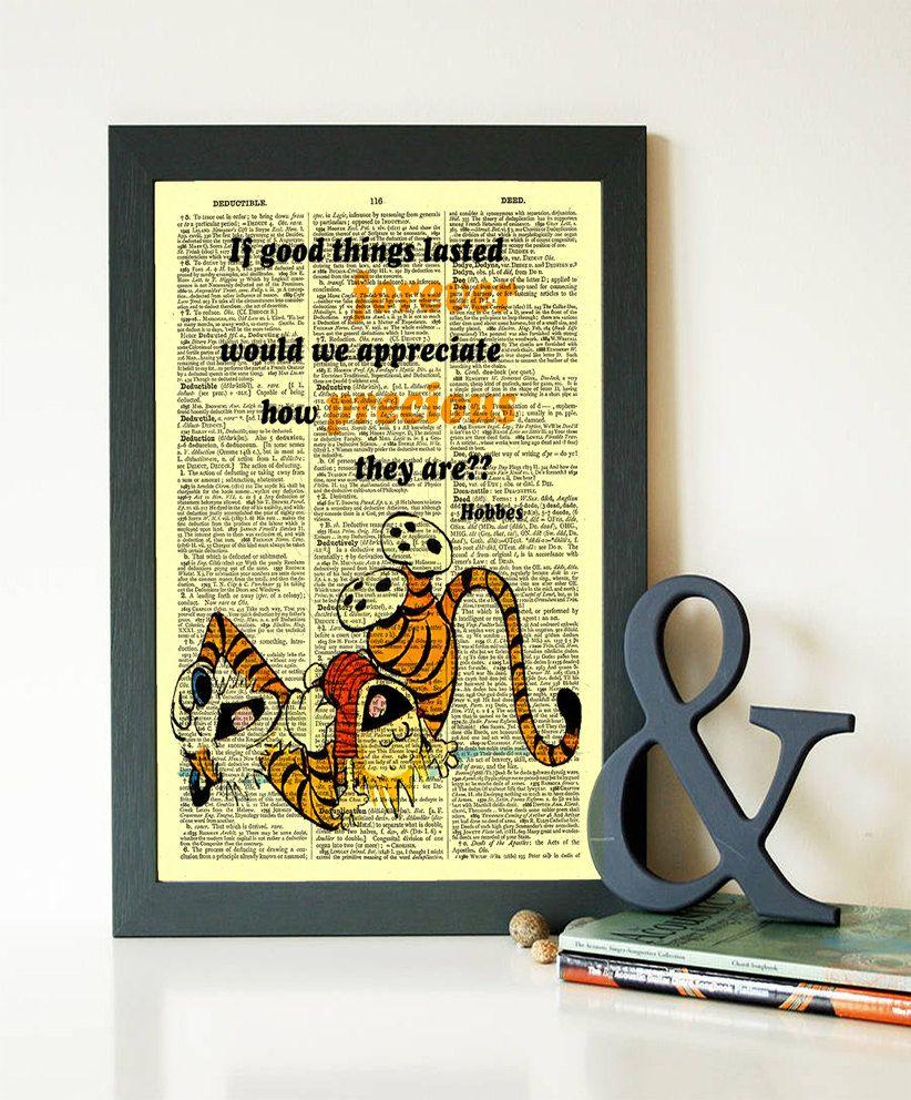 Calvin and Hobbes Print Buy 1 Get 1 FREE Dictionart Art Print Calvin ...