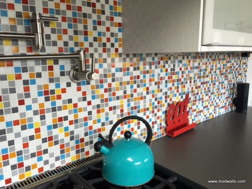 Brio Glass Mosaic Tile Custom Blend by Modwalls. Create your own ...