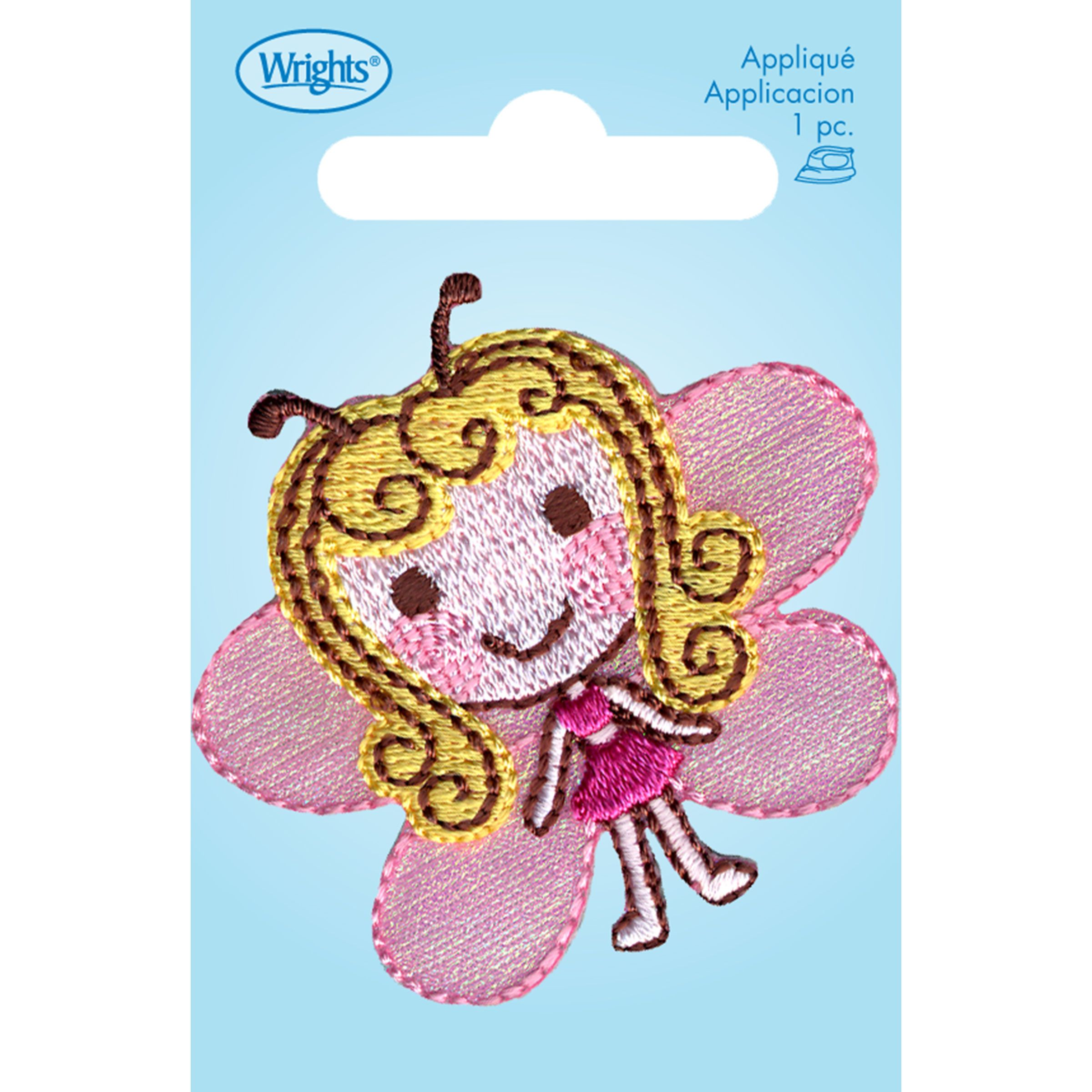 Butterfly Girl Iron On Applique designs, Applique