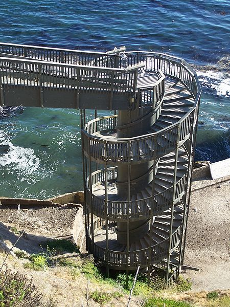 Spiral Staircase In Pismo Beach