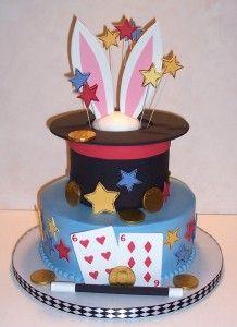 Excellent Magic Show Birthday Cakes Google Search Magician Cake Magic Funny Birthday Cards Online Kookostrdamsfinfo