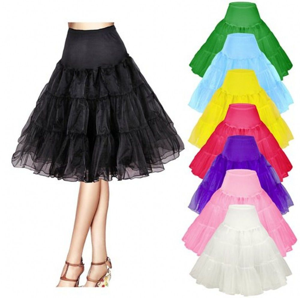 Bridesmay Womens Vintage Rockabilly Petticoat Retro Tutu Underskirt