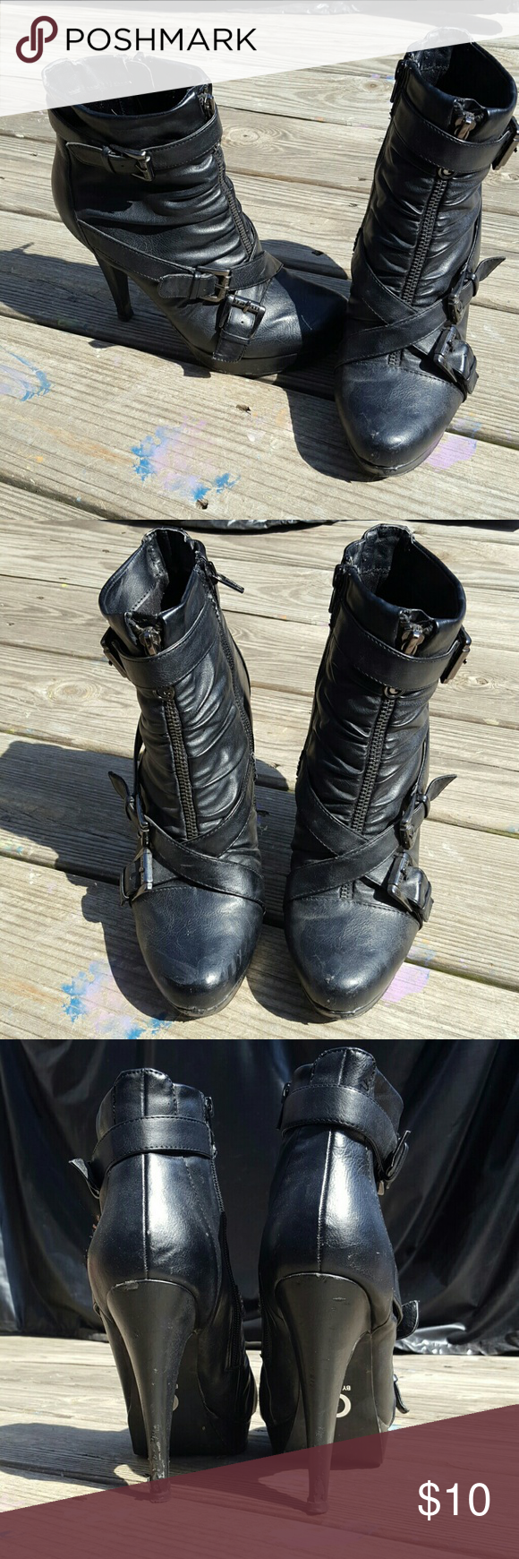 $5 Sale🎁G by Guess black booties. 8.5 Sexy black booties. Preloved condtion. Bundle and save!! G by Guess Shoes Ankle Boots & Booties