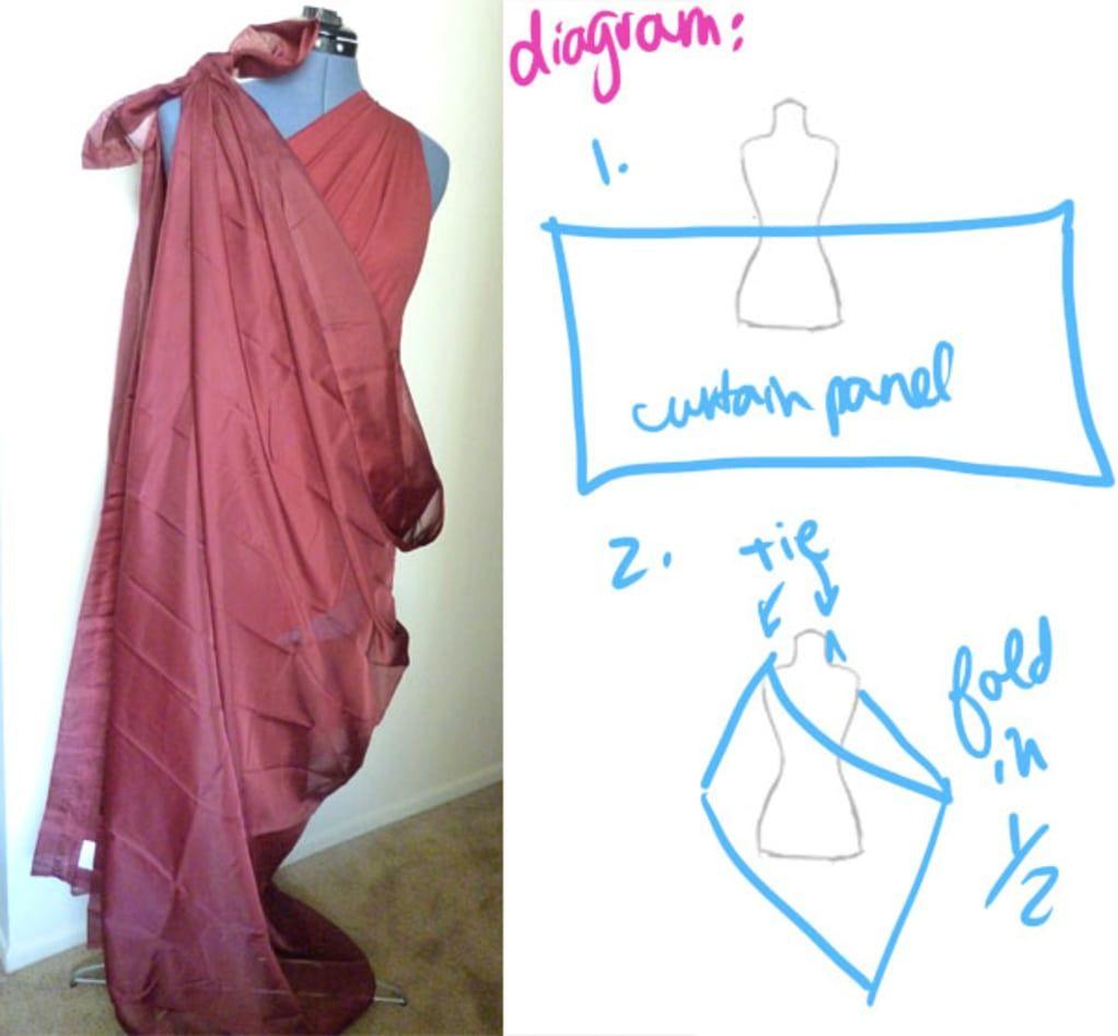 2019 year look- DIY No-Sew Tutorial: Draped Dress