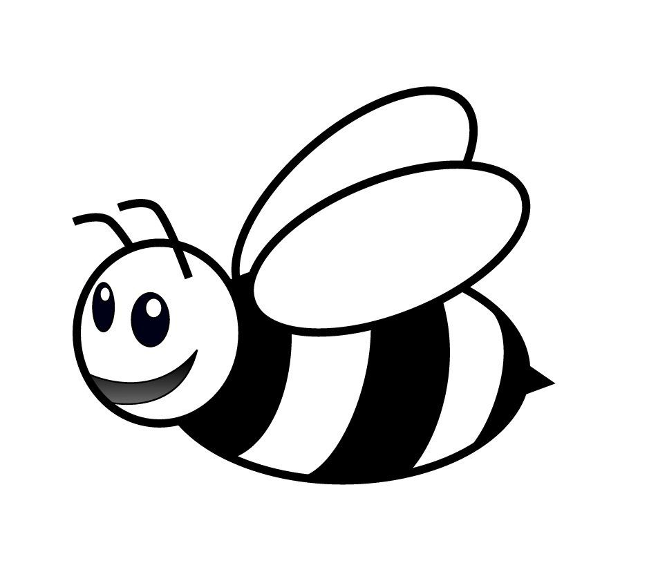 category of dibujos de abejas para colorear page 1 bees clip art free downloads microsoft bee clipart free black and white