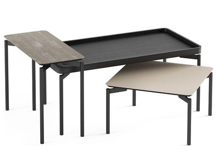 Bdi Radius Charcoal 40 Wide Rectangular Coffee Table In 2019
