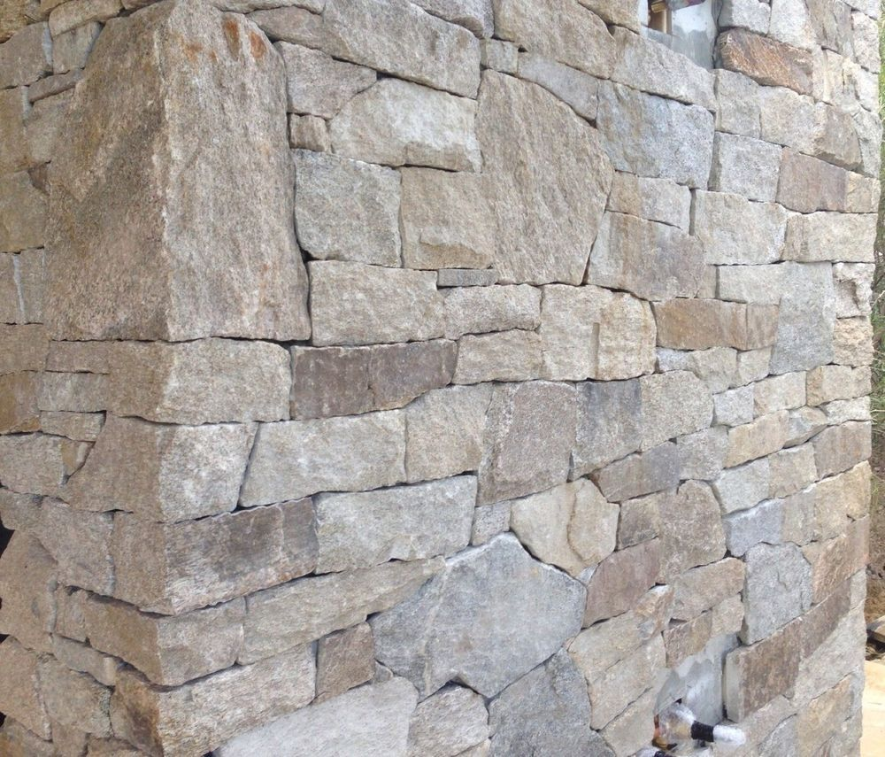 Stone marble granite exterior wall cladding view cladding wall - Alpine Granite Stack Stone Cladding Hotham For Feature Walls Fireplace